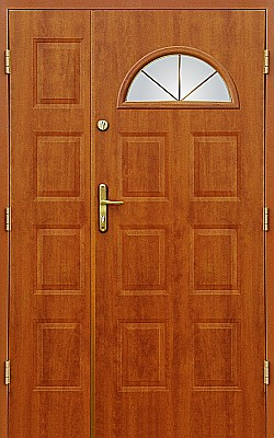 Dvoukřídlé vstupní dveře